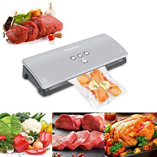 Vakuumierer Fivanus Vakuumiergerät DS-100 Folienschweißgeräte vakuumierer 30cm Schweißnaht für Lebensmittel, Fleisch,Früchte bis zu 6x Länger Frisch Inklusive 10 Folienbeutel - 3
