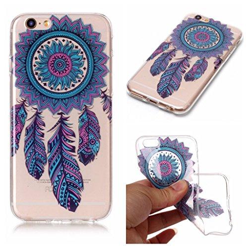 """Coque pour iPhone 6S Plus / 6 Plus , IJIA Transparent Fleurs De Peinture à L'huile TPU Doux Silicone Bumper Case Cover Shell Housse Etui pour Apple iPhone 6S Plus / 6 Plus (5.5"""") XS77"""