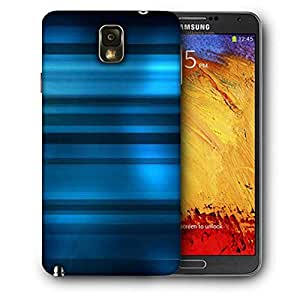 Snoogg Blue Dark Pattern Printed Protective Phone Back Case Cover For Samsung Galaxy NOTE 3 / Note III