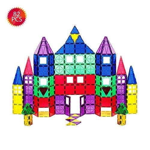 Bloques de construcción magnéticos 3D 82 Piezas, Azulejos...