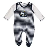 SALT AND PEPPER Baby-Jungen Strampler NB Playsuit Ready Stripe, Blau (Navy 460), 62