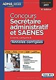 Concours Secrétaire administratif - Catégorie B - Annales corrigées - Concours 2017...