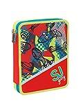 Trousse Maxi Seven SJ Gang école 2plans Boy Enfant Plein + offert Stylo à paillettes + offert marque-Page