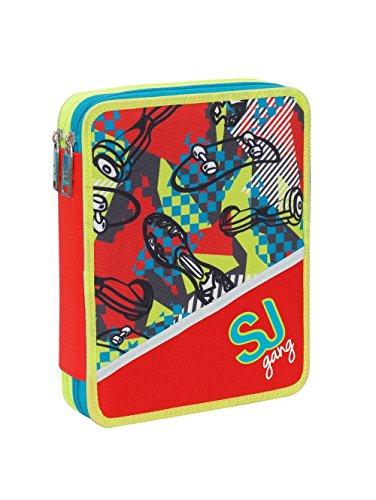 ee87626f97 ASTUCCIO MAXI SEVEN SJ GANG SCUOLA 2 PIANI BOY BAMBINO PIENO + OMAGGIO  PENNA glitterata +
