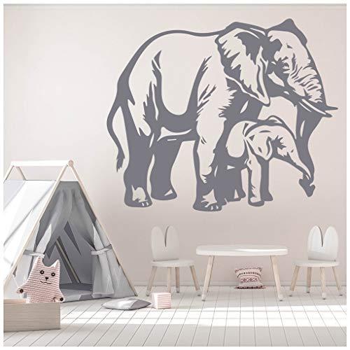 azutura Elefantenkalb Wandtattoo Safari Tiere Wand Sticker Kinder Schlafzimmer Haus   Dekor verfügbar in 5 Größen und 25 Farben Groß Licht Orange -