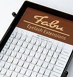 Fabu Eyelash Extensions Russian Volume 4D fans, Thickness/Diameter 0.07, D Curl, One length per tray 12mm   13mm   14mm   15mm   (12mm)