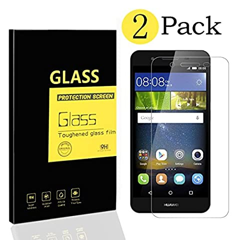 [2-Pack] Huawei P8 Lite Smart Screen Protectors [Not for P8 Lite], MENGGOOD Tempered Glass Protective Films Invisible Transparent Crystal Clear Protection Display for P8 Lite Smart - 9H Hardness