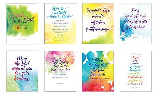 all-occasion einfach Scripture Grußkarten W/Umschläge (8Inspirierende Bibel Vers blanko Note Karten-Geburtstag, vielen Dank, Beileid, Thinking of You (Geburtstag Bibel Verse)