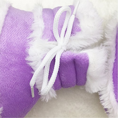Zhuhaitf Excellent Cute Baby Princess shoes Toddler Winter Warm Soft Sole Snow Boots pink