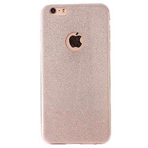 """iPhone 6sPlus Hülle, iPhone 6Plus Handytasche, CLTPY Ultradünn Weich TPU Schutzfall Shinning Glitzer Kristall Schale Etui für 5.5"""" Apple iPhone 6Plus/6sPlus (Nicht iPhone 6/6s) + 1 x Stift - Silber Gold"""