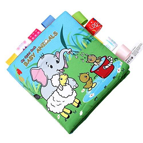 Mitlfuny Kinder Erwachsene Entwicklung Lernspielzeug Bildung Spielzeug Gute Geschenke,Baby Tiere Puzzle schöne Tuch Buch Baby Spielzeug Tuch Entwicklung BB Sound Books
