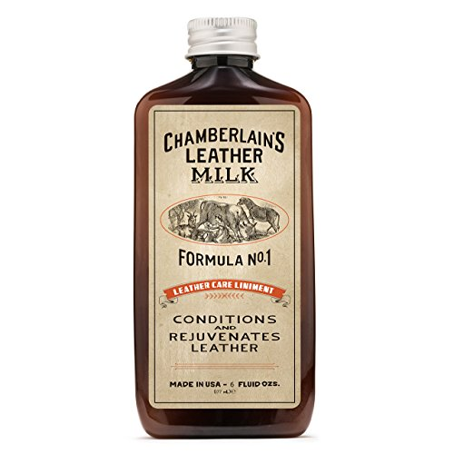 Chamberlain's Leather Milk 8oz Leather Conditioner No. 1: Best Leather Cleaner and Leather Conditioning Liniment for Quality Leather Care.