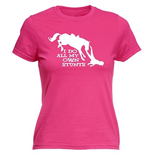 i-do-all-my-own-stunts-womens-i-do-all-my-own-stunts-horse-s-hot-pink-fitted-t-shirt