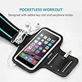 iPhone 6s Armband, Anker Sport Armband for iPhone 6 / 6s (4.7 inch) for Sports, Running, Jogging, Walking, Hiking, Workout and Exercise, Sweat-Free High-Quality Neoprene with Headphone and Key Slots and 2 Extra Cuttable Strips Bild 1