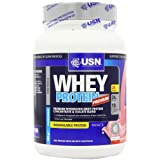 USN Whey Protein Premium Muscle Development and Recovery Shake Powder, Strawberry - 908 g by USN
