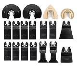 EZARC 18pc oscilante herramienta cuchillas liberación rápida Set multiherramienta hoja de sierra para cortar, recortar y lechada quitar