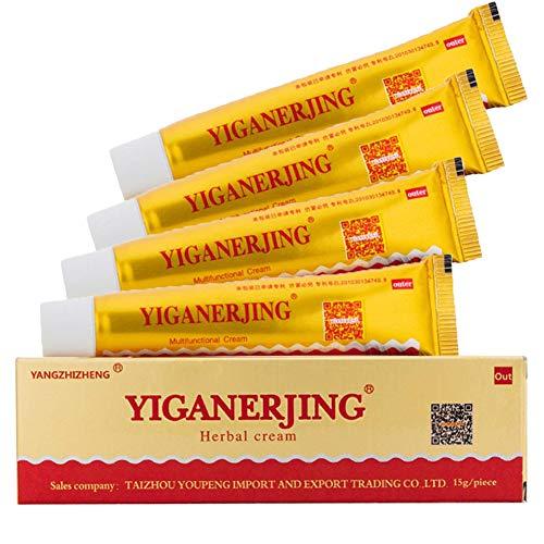 Antibakterielle Creme, 4 Pcs chinesische pflanzliche natürliche antibakterielle Salbe für Ekzeme, Psoriasis & Rosacea Care Cream von...