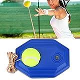 Haofy Improve Attrezzatura Allenamento Tennis Unisex, Tennis di Palla Formazione e Corda in Gomma ad Alta Elasticità con Base Accessorio per Addestramento da Tennis