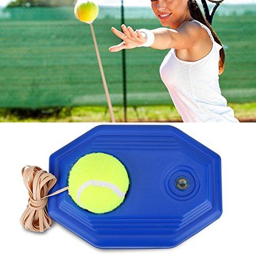 Haofy Tennis Ball Trainer Tennis Boden mit Einem Seil Selbststudium Tennis Rebound Player mit Trainer Baseboard Training Ball earable mit Exquisites Design und feine Verarbeitung. -