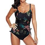 Mujer 2 Pieces Swimsuit Bikini Set Tallas Grandes Tankini Top con Braguitas Tummy Control Bikini Bañador Elástico Bikini Bañador L - 5XL juqilu