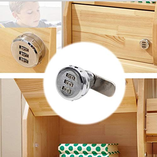 20mm 3-digit Code Combination Cam Lock Keyless Mail Box Cabinet Drawer 2019 New Style Comfortable Feel Locks