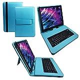 Qwertz Tastatur Tablet Tasche für Medion Lifetab P10356 MD 99632 10.1  mit Standfunktion - Deutsche Tastenbelegung - 10