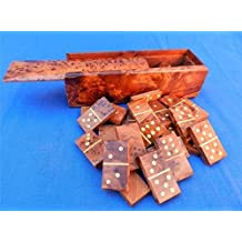NEW MOROCCAN DOMINOES BURRED THUYA WOOD HAND CRAFTED GAME IN BOX FAIR TRADE GIFT by Equal Earth