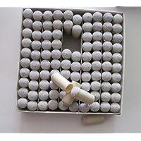 TYKusm - Puntas para tacos de billar de 10 mm (gris)