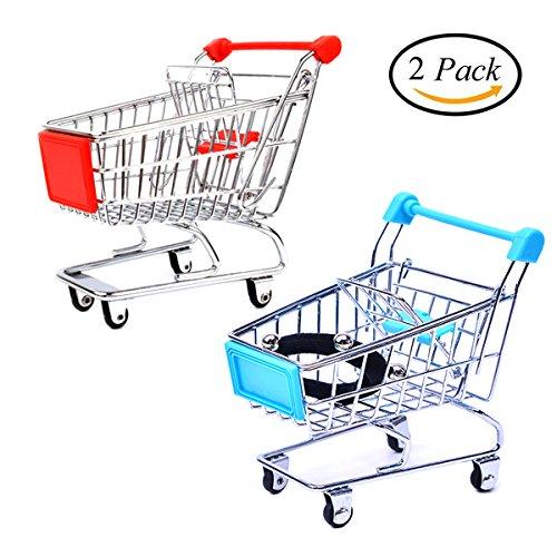 UClever Mini Einkaufswagen Kinder Spielzeug Vögel Parrot Spielzeug 2 Stücke