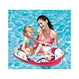 Lively Moments Transparentes Aufblasboot für Kinder / Kinderboot / Schlauchboot in pink