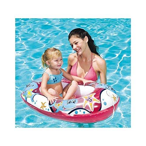 Transparentes Aufblasboot für Kinder / Kinderboot / Schlauchboot in pink