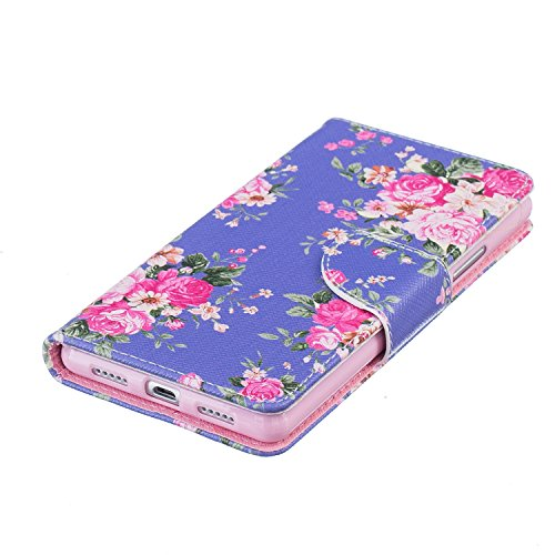 Cozy Hut® Huawei P9 Lite Housse, Ultra-mince Etui En Cuir PU Flip Cassette Intérieur Pour Cartes Pour Huawei P9 Lite New Mode Fine Folio Wallet/Portefeuille + Stand Support + Card Slot + Magnétique +  Medicago