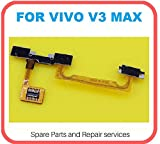 Hukato Power On / Off Switch Volume Up / Down Button Key Flex Cable Ribbion Compatible For Vivo V3 Max