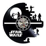 Horloge murale disque vinyle Musique Cadeau pour les amateurs de Star Wars