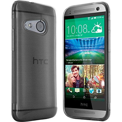 moodie Silikonhülle für HTC One Mini 2 Hülle in Anthrazit-transparent - Case Schutzhülle Tasche für HTC One M8 Mini (Rutschfest)