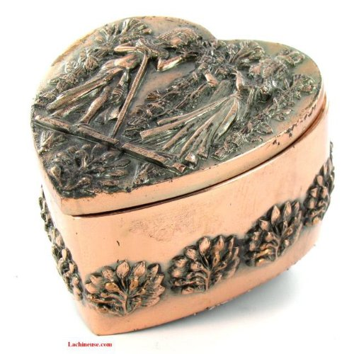 BOITE Forme Coeur - Décoration égyptienne - Aspect Métalisée