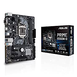 ASUS Prime B360M-D Motherboard (Intel Socket 1151/8th Generation Core Series CPU/Max 32GB DDR4-2666MHz Memory)