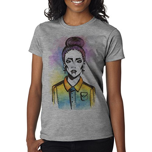 SWAG Girl Painting Pastel Colours Background Damen T-Shirt Grau