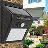XHAB Solar-Wandleuchten Im Freien 20Led Wireless 3 in 1-Gang-Bewegung Körpersensor Security Garden Beleuchtung Lampe,A