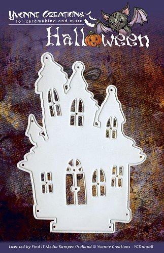 Algemeen - Fustella, Tema Halloween, a Forma di casa dei Fantasmi