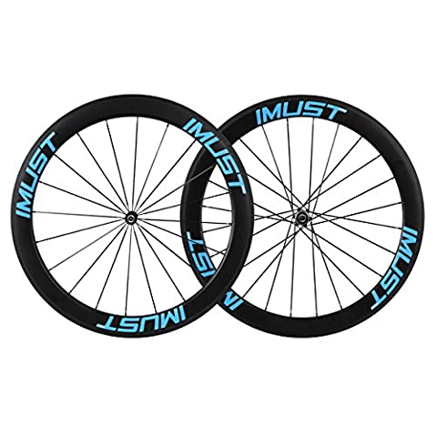 Aero Road Bike Wheel Set Carbon Fiber 50mm Width Clincher Tubeless Ready Rim Novatec Straight Pull 10/11 Speed