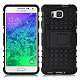 Coque Galaxy Alpha Coque incassable | JammyLizard | [ ALLIGATOR ] Coque rigide back cover incassable anti choc coque pour Samsung Galaxy Alpha, noir