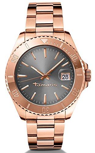 Tamaris - B08202040 - Montre Femme - Quartz - Analogique - Aiguilles Lumineuses - Bracelet Acier Inoxydable Or et Rose