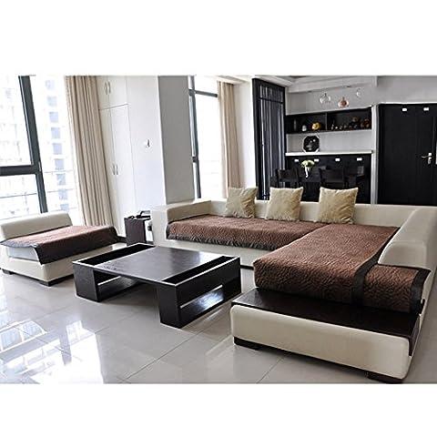 Beautylife66 Sofahusse Hochwertig Sofabezug Stretchhusse XL 70*210cm Sofaabdeckung Braun