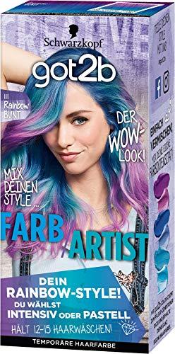 Schwarzkopf Got2b Farb/Artist Haarfarbe, 111 Rainbow Bunt, 3er Pack (3 x 90 ml)