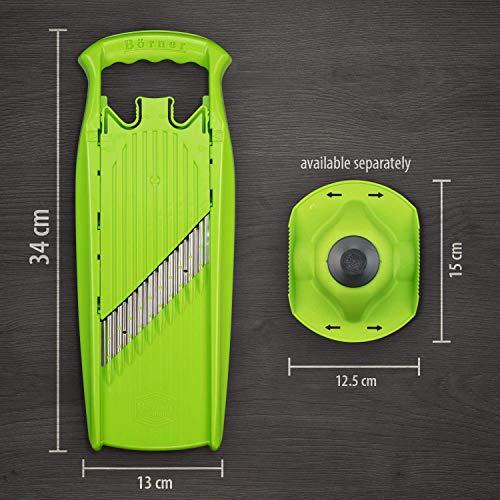 Börner Welle-Waffel PowerLine in grün - Riffelmesser für Wellenpommes & Chips