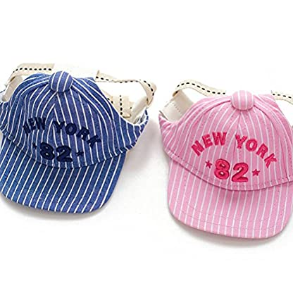 UEETEK Pet Dog Baseball Cap Visor Sun Hat with Ear Holes for Small Dog Size M Pink 3