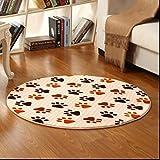 ZiXuan Runde Teppich Teppich Fitness Yoga Teppich Computer Stuhl Kissen Schlafzimmer Wohnzimmer Bettdecke Teppich (Farbe : C, größe : Diameter120CM)