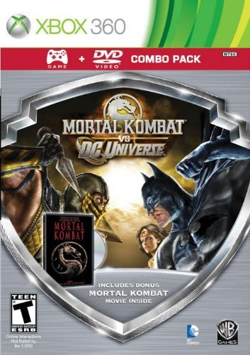 Mortal Kombat vs DC Universe - Silver Shield Combo Pack - Xbox 360 by Warner Home Video - Games Shield Combo