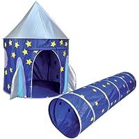 Kids Kingdom Pop-up Space Rocket Play Tent & Tunnel